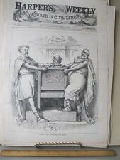 Vintage Print,POWER BEHIND THRONE,May 1881,Harpers,TH.Nast