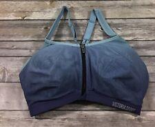 Victorias Secret Womens Knockout Front Closure Sports Bra 34DDD Blue Purple M62