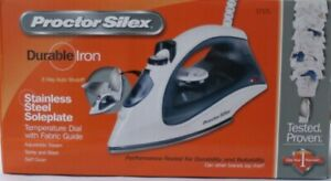 Proctor Silex Durable Iron 3 Way Out Shutoff Stainless Steel Soleplate