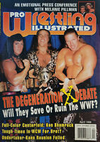 Pro Wrestling Illustrated Vtg April 1998 Magazine DX Chyna Ken Shamrock HHH NoML