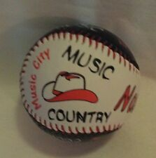 NASHVILLE BASE BALL WITH MUSIC CITY GUITARS COWBOY HATS & COUNTRY MUSIC