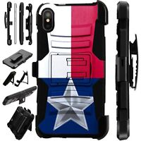 Lux-Guard For iPhone 6/7/8 PLUS/X/XR/XS Max Phone Case Cover TEXAS FLAG