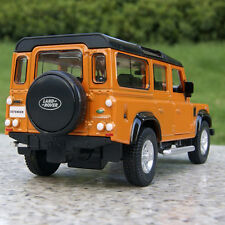 """Land Rover Defender 5.3"""" Orange Alloy Diecast Model Car Collection&Gifts Toy New"""