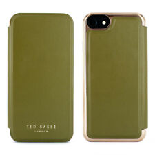 Ted Baker® SHANNON High Quality branded Mirror Folio Case for iPhone 8 Mid-Green