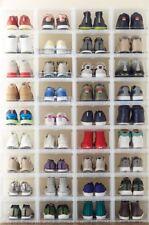 10 Men's Drop-Front Shoe Box Translucent 👞👟  Shoe Container Storage Organizers