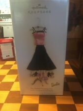 2006 Hallmark Keepsake Barbie Ornament Set And Display-The Perfect Evening Out