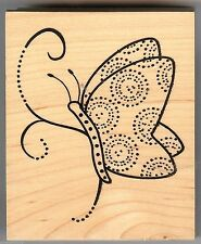 Great Impressions - Rubber Stamp - Artistic Side View Butterfly - G283