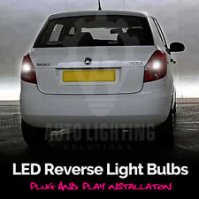 2x Skoda Fabia LED Reverse Light Bulb White Canbus Error Free *SALE*