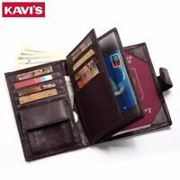 Genuine Leather Men Wallet Passport Credit Card Holder Coin Purse Wallet's