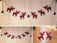 Handmade Christmas Garland /set of 2 Reindeer Scarf Trees Traditional Ornament