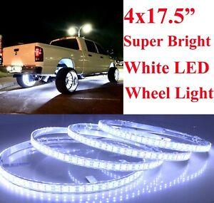 "17.5"" Super Bright White LED Wheel Ring Light for Jeep Truck Double LED 4Rings"