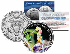 SPECTACULAR RAINBOW-COLORED SEAHORSE *Fish Series* JFK Half Dollar U.S. Coin