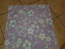 "Pb Teen ""Lavender Hibiscus/Stripes"" Reversible Euro Pillow Sham"