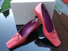 Pied A Terre Eclipse red all leather court shoes UK 5.5 EU 38.5 BNIB RRP £125