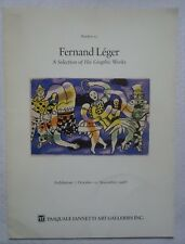 FERNAND LEGER A SELECTION OF HIS GRAPHIC WORKS  #15 PASQUALE IANNETTI EXHIBITION