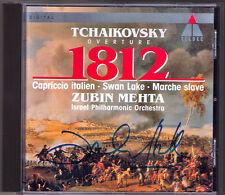 Zubin MEHTA Signed TCHAIKOVSKY 1812 Marche Slave Capriccio Italien Swan Lake CD