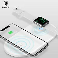 Baseus 2in1 Fast Wireless Charger Pad For iPhone XS Max XR X Apple iWatch Series