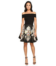 new TED BAKER london airlo opulent embroidered us 6 xs orient bardot dress