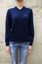 Nero Giardini Jumper Boys Blue Knitted V Neck Wool Italy14-15 yrs