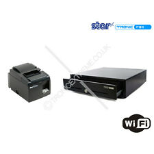 iPad & Android Pos Kit 24V Cash Drawer Star TSP143LAN Ethernet Thermal Printer