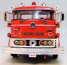 A Vintage 1960s Fire Engine Truck 1 T Metal Model 24 Antique Red Pickup Car 18
