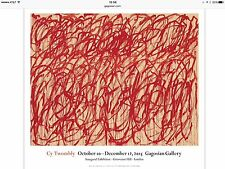 Cy Twombly Bacchus Original  2015 Exhibition Poster Large Colorful 29x26