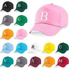 Kids Embroidery Baseball Cap Girls Boys Junior Childrens Hat Summer A Z Pink