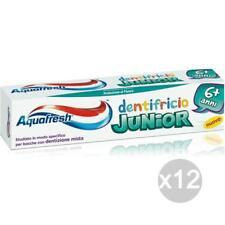 Set 12 AQUAFRESH Junior Toothpaste 75 + 6 Jahre Kinder Gesundheit Und Zahnpflege