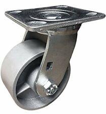 """4"""" Heavy Duty Swivel Caster - 4"""" Semi Steel Cast Iron Wheel - CasterHQ Brand"""