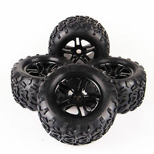 4Pcs Rubber Bigfoot Tyre&Wheel Rim For RC 1/8 TRAXXAS Summit HPI Monster Truck