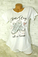 Italy New Collection T-Shirt weiß Sneaker Shoes Gr. 36 38 40 42 blogger Strass