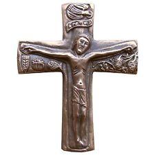 Bronzekreuz Kruzifix 10 cm * 9 cm Kommunion Bronze Cross Crucifix