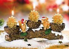 ganz bezaubernder Kerzenhalter, Eichhörnchen auf einem Ast, 22cm, neu