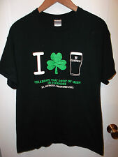 Guinness Beer Ireland St Saint Patrick's Day 2013 Shamrock Pint Pub T Shirt Lrg