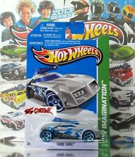 Hot Wheels 2013 #75 Turbo Turret™ FLAT GREY,2ND COLOR,NEW CASTING,BLUE TIRES,NEW