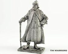 Cossack cavalry Commander Tin toy soldier 54mm miniature statue. metal sculpture