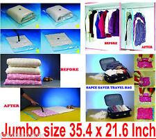 Vacuum Seal Storage Space Saver Bags, Compressed Organizer (Jumbo Size) 3 Pcs.