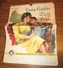 Calendario lana gatto 1956