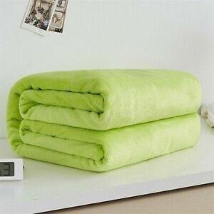 Warm Coral Fleece Blanket Bedspread Sofa Throw 220Gsm Light Flannel Blanket