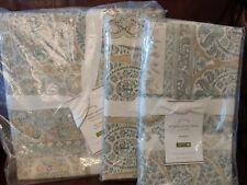 3pc Pottery Barn Meagan Paisley Full Queen Duvet Cover & Standard Shams Nwt Read