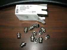 Nos Lot of 11 Parker 68Lf-6M-2G 6Mm Push to Connect Tube Fittings