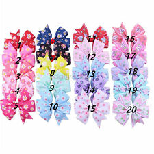 20pcs Beautiful Bow Hair Clip Alligator Clips Girls Ribbon Kid Accessories Gifts