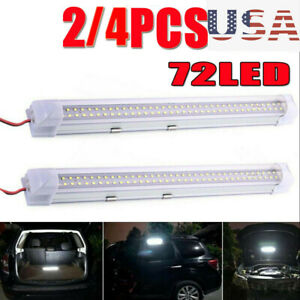 72 LED Interior Lights Strip Bar 12V 12 VOLT Car Van Bus Caravan ON/OFF Switch