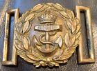 WW1, GeorgeV (1911-1936) British Royal Navy Officer Complete Brass Belt Buckle