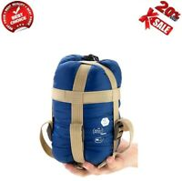 Portable Compact Lightweight Warm Weather Sleeping Bag with Compression Sack