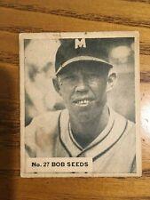 1936 World Wide Gum WWG #27 Bob Seeds Newark Bears FR fair