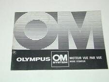 notice OLYMPUS moteur vue par vue en  Français photo photographie