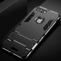 iPhone 6s Plus Armor Shockproof Hybrid Rugged Protective Stand Case Cover+ Glass