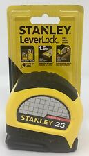 """Stanley STHT30825 Lever Lock Tape Rule, 25' x 1"""", 7.6m X 25 Write On Label  1132"""