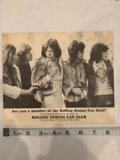 The Rolling Stones Original Fan Club Flyer